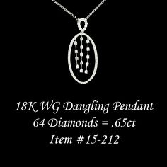 Dangling diamond waterfall pendant.
