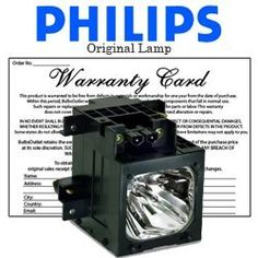 Philips Lighting Sony KDF70XBR950 Lamp with Housing XL2100 by Philips. $104.49. Sony KDF70XBR950 Lamp with Housing XL2100