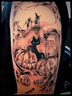35 Most Amazing Halloween Tattoo Designs