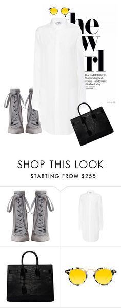 """crisp clean"" by perilousness-fashion on Polyvore featuring Zimmermann, Acne Studios, Yves Saint Laurent and Krewe"