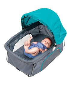 Teal Dreamliner Travel Bassinet #zulilyfinds