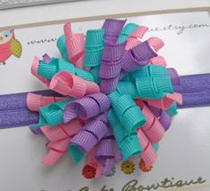 Baby Hair Bow Infant Hair Bow Newborn Hair by PattiCakeBowtique, $5.50