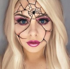 Are you looking for ideas for your Halloween make-up? Browse around this site for creepy Halloween makeup looks. Creepy Halloween Makeup, Amazing Halloween Makeup, Pretty Halloween, Halloween Costumes, Halloween Halloween, Creepy Doll Makeup, Vintage Halloween, Amazing Makeup, Halloween Desserts