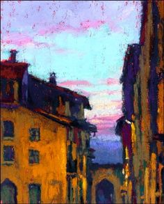 ۩۩ Painting the Town ۩۩  city, town, village & house art -  Corton Dusk…