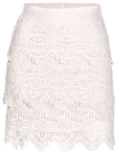 A must have Lace Skirt Spring Skirts, Layered Skirt, Scalloped Lace, Style Inspiration, Style Ideas, Online Shopping Clothes, Playing Dress Up, Dress Me Up, Skirt Fashion