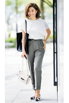 Spring Work Outfits, Casual Work Outfits, Office Outfits, Work Casual, Chic Outfits, Casual Looks, Minimalist Fashion Women, Office Fashion Women, Everyday Fashion