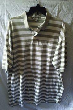 PING Green Stripe Polo Cotton Golf Shirt Size XXL #Ping #PingMen'sPoloShirtSizeXXL #PingMen'sGolfShirtSizeXXL