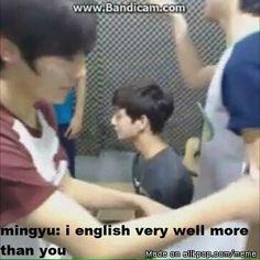 My English level: Mingyu #Seventeen #세븐틴 #Mingyu #민구