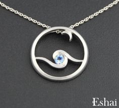 Moonglow Pendant Sterling Silver with Blue Topaz