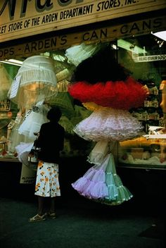Out of Style now but we loved our 1950' s Petticoats.  We wore 4 or 5 at a time.