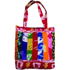 Perfect for a trip to the grocery store, book bag, or just an everyday tote, this bright color batik tote is just so cheerful and cute!