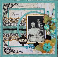 1962 ~ Pretty heritage family page with an iconic early '60s color palette.