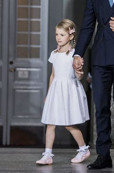 Princess Estelle of Sweden attends a thanksgiving service on the occasion of her mother, Crown Princess Victoria of Sweden's 40th birthday celebrations at the Royal Palace on July 14, 2017 in Stockholm, Sweden.