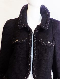 Chanel Most coveted black jacket with metal braids details image 6