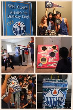 Edmonton Oilers Party favors Kids birthday party themes