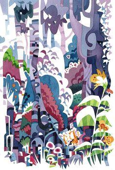Archipelagogo Watercolour Prints / Jonathan E Store Watercolor Landscape, Abstract Watercolor, Watercolor And Ink, Watercolor Paintings, Watercolours, School Library Design, Still Life Art, Watercolor Pattern, Painting Patterns