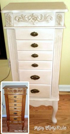 A bunch of before & after furniture pieces and fun transformations. Painted with Annie Sloan Chalk Paint, Sherwin Williams & Minwax products. Bedroom Furniture Makeover, Painted Bedroom Furniture, Chalk Paint Furniture, Refurbished Furniture, Repurposed Furniture, Shabby Chic Furniture, Furniture Projects, Furniture Making, Home Furniture
