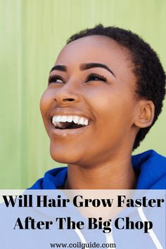 Does hair grow faster after the big chop? What you need to know before you do the natural hair big chop. What to think about before you cut dead ends off curly hair. #kinkyhair #curlyhair #wavyhair #naturalhair #thebigchop Natural Hair Regimen, Natural Hair Care Tips, How To Grow Natural Hair, Natural Wavy Hair, Grow Long Hair, Be Natural, Natural Hair Growth, Grow Hair, Curly Hair