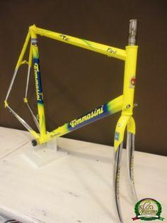 Tommasini Fire Columbus Fuoco Genius steel frameset frame 61 cm VGC WW SHP | Interesting non tubular frame