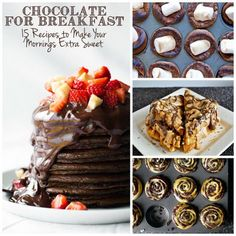 Chocolate for Breakfast - 15 recipes ranging from pretty healthy to wildly decadent.