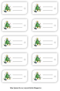 Jmenovky na dárky Free Printable Christmas Gift Tags, Christmas Printables, Diy And Crafts, Christmas Crafts, Gift Wrapper, Kindergarten Crafts, Gift Labels, Christmas Clipart, Christmas Inspiration