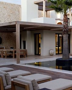 Rustic Home Decor Exterior Design, Interior And Exterior, Outdoor Spaces, Outdoor Living, Spanish House, House Goals, Future House, Interior Architecture, Luxury Homes