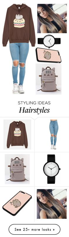 """""""Untitled #2212"""" by aiag on Polyvore featuring Pusheen"""