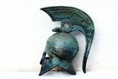 Greek Corinthian Helmet with Serpent Crest by GreekMythos on Etsy, $93.00