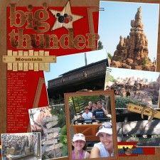 Disney Scrapbook Pages, Scrapbooking Layouts, Disney Vacations, Thunder, Disneyland, Craft, Big, Gallery, Mountain