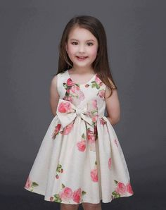 Girls' Clothing (Sizes 4 & Up) Kid Girl Sleeveless Bowknot Floral Tutu Dress Princess Dresses Wedding Party Fashion Kids, Little Girl Fashion, Dresses Kids Girl, Little Girl Dresses, Children Dress, Children Costumes, Young Children, Toddler Outfits, Kids Outfits