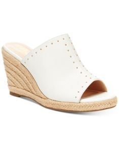 Nanette Lepore Nanette By Quinton Wedge Sandals, Created For Macy's Women's Shoes In White Macys Womens Shoes, Buy Shoes, Women's Shoes, Nike Shoes, Shoe Wardrobe, Expensive Shoes, Flip Flop Shoes, Kinds Of Shoes, Nanette Lepore