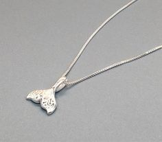 925 sterling silver mermaid tail necklace