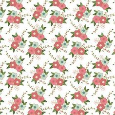 Wonderland Floral in White by Melissa Mortensen for Riley Blake SC5181-WHIT