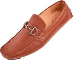 Amali Mens Classic Light Brown Pebble Grain Smooth Loafer Driving Shoe with Metallic Copper Ornament Style Sonny-065Amali Presents Style Sonny: Classic Light Brown Pebble Grain Smooth Slip On Driving Shoe with Decorative Metallic Copper Ornament!This Classic Style Driving Shoe adds a POP of color to any outfit!Slip your feet into a pair of Comfortable AND …