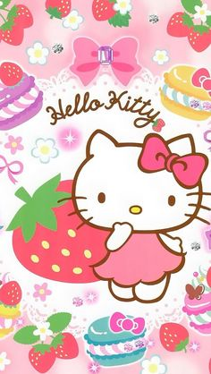 YouWall Pink Hello Kitty Wallpaper wallpaperwallpapersfree