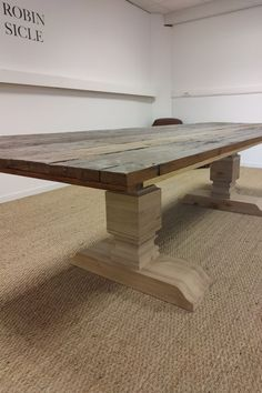 300 x 100 cm Pieds echecs Dining Table, Furniture, Home Decor, Solid Wood, Decoration Home, Room Decor, Dinner Table, Home Furnishings, Dining Room Table