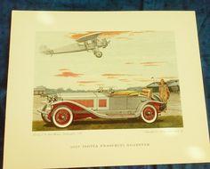 Leslie Saalburg 1927 Isotta Fraschini Roadster Print by COLLECTORSCENTER on Etsy