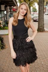 Milly Feather Dress | Silkworm Boutique