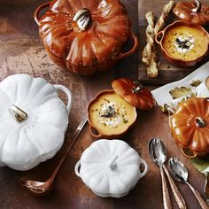 Staub Cast-Iron Pumpkin Cocotte Celebrate the fall harvest with a collectible kitchen-to-table cocotte in the natural shape of a pumpkin. Cast iron's unparalleled ability to retain heat makes this piece a great choice for slow-cooking afflnk Williams Sonoma, A Pumpkin, Pumpkin Spice, Cocotte Staub, Cast Iron Cookware, Staub Cookware, Natural Shapes, Le Creuset, Fall Harvest