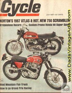 1967 Norton 750 Atlas and P-11 Scrambler road tests/specs
