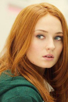Beautiful redhead Sophie Turner known for her role in HBOs Game of Thrones as Sansa Stark - I always refer to her as Ginger Stark :-)