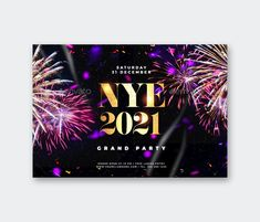 New Year Flyer PSD Template - Size 6×4 with 0.25 bleed