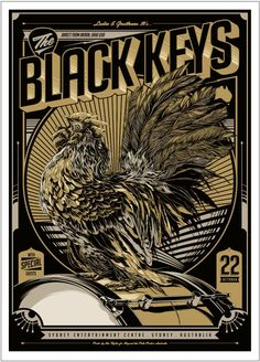 The Black Keys event poster by Ken Taylor