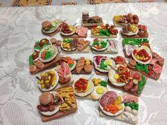 calamite vassoi e piatti con cibo interamenti fatti a mano, by mondo panna, 2,50 € su misshobby.com