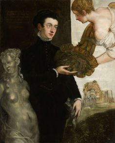 Portrait of Ottavio Strada, Jacopo Tintoretto, 1567  The cornucopia is interesting
