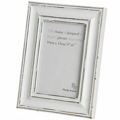 Details About Hill Interiors Distressed Antique White Photo Frame Hi1598 In 2020 White Photo Frames Picture Frame Shop Photo Frame