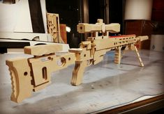 rubber band gun Small Wood Projects, Diy Projects, Wood Crafts, Diy And Crafts, Rubber Band Gun, Wood Toys, Fractions, Rifles, Wooden Diy