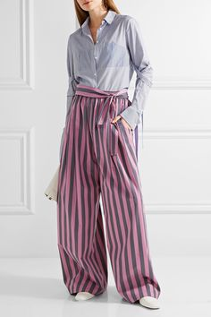 TOME | Striped cotton-poplin wide-leg pants | NET-A-PORTER.COM