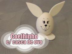 DIY.: Coelhinho c/ casca de ovo