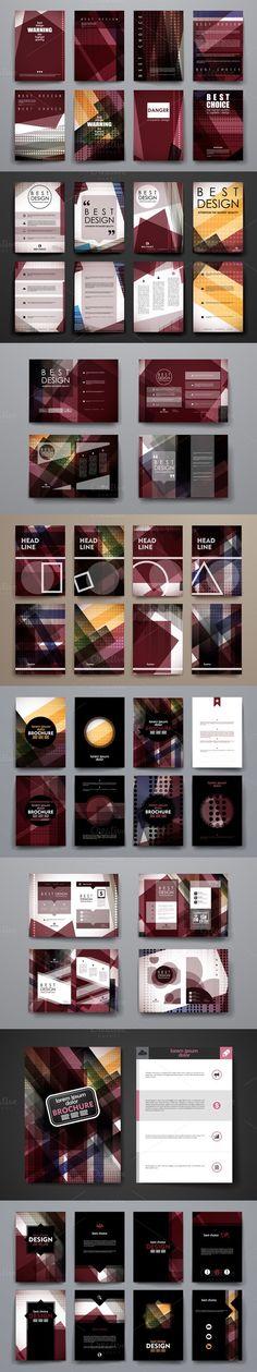 Abstract Brochures. Brochure Templates. $5.00